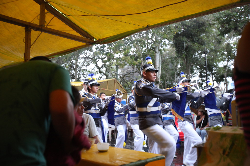 Guatemalan Independence day marching band