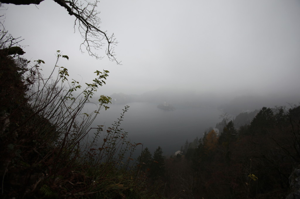foggy view in Bled