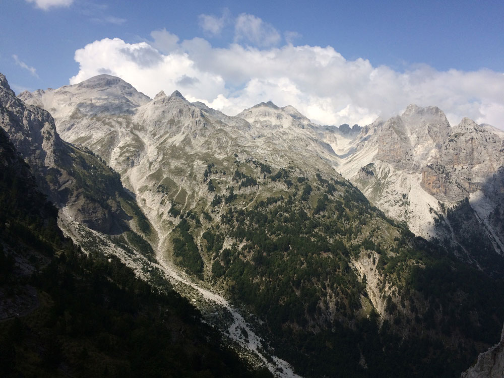 Mountain pass from Theth to Valbona